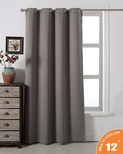 AMAZLINEN Sleep Well Blackout Curtains Toxic Free Energy Smart Thermal Insulated,52 W X 84 L Inch,Grommet Top,1 Panel Pack(Grey) (Insulated Patio Covers)