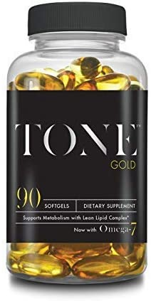 Complete Nutrition Tone Gold, Supports Body Fat Loss, Metabolism Weight Management, Omega 7, 6 3, Sea Buckthorn, 90 Softgels