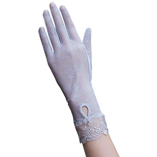 下位読みやすいアイロニーLiebeye 手袋 レディース 女性 夏 ロング 長 日焼け止め 紫外線対策 運転用 五本指 レース フリーサイズ