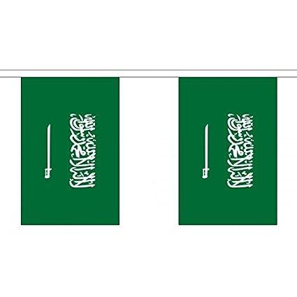 3 metros 10 (22,86 cm x 15,24 cm) de la bandera de Arabia Saudí