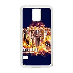 Doctor Who 50th Anniversary Samsung Galaxy S5 Cell Phone Case White AFH