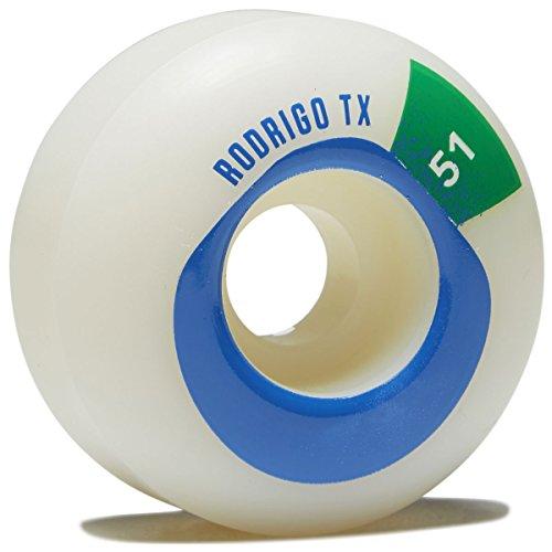 スナップ書道各WaywardフラットBoy Rodrigo TXスケートボードホイール – グリーン – 51 mm