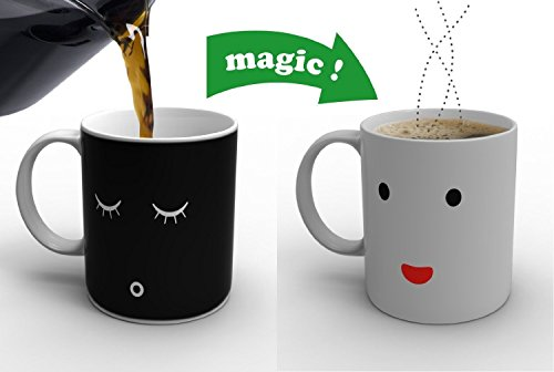 Magic mañana Taza para Café Té Leche, Calor Sensible de color cambiante