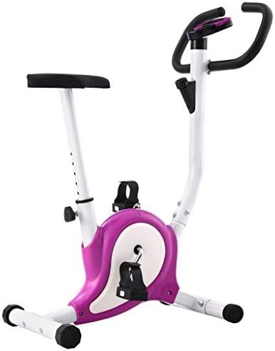 Tidyard Bicicleta estática con Resistencia de Cinta Morada Pedales ...