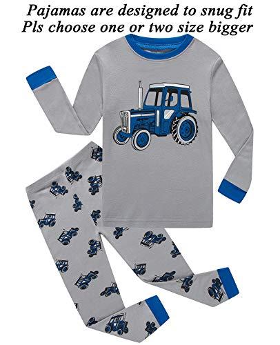 Boys Pajamas Truck Kids Pjs Sets Cotton Toddler Clothes Children Sleepwear Shirts Size 6t -