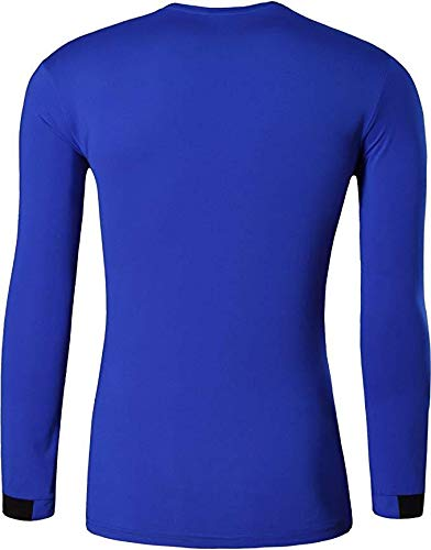 Jeansian Hombre 3 Packs Athletic Secado Rapido deportes Camiseta Manga Larga T-Shirt Tee
