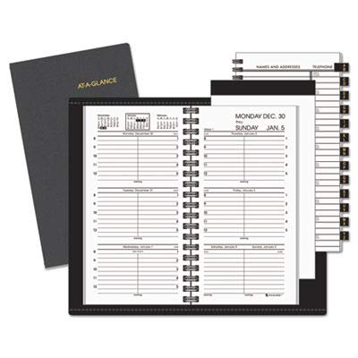 - AT-A-GLANCE 70-008-05 Recycled Weekly Appt. Book with Memo Pad, Refillable, 3-1/4 x 6-1/4, Black, 2015