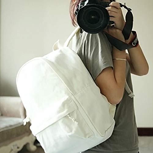 Backpacks TOPTIE White School Daypack Classic Bookbag Satchel Black Canvas Unisex DIY ZwtCwTq