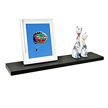 WELLAND Simons Floating Wall Shelf Ledge Shelves, 36-Inch, Black