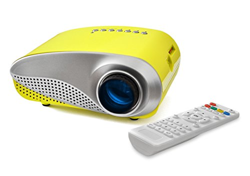 OEM K1 LED LCD (QVGA) Mini Video Projector - International Version - Yellow (FP3224K1Y-IV) by OEM Projectors