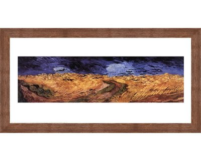 Wheatfield with Crows、c.1890 Vincent van Gogh – 30 x 24インチ – アートプリントポスター LE_25136-F10570-30x24 B01NCK2GN7 Rustic Brown Frame