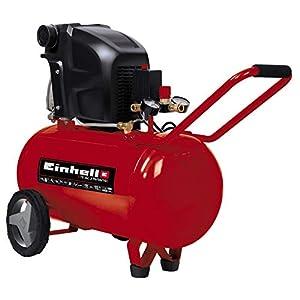 Einhell 4010440 Compresor TE-AC 270/50/10 Expert, 1800 W, potencia de aspiración 270 l/min, 2850 rpm, presión máxima 10…