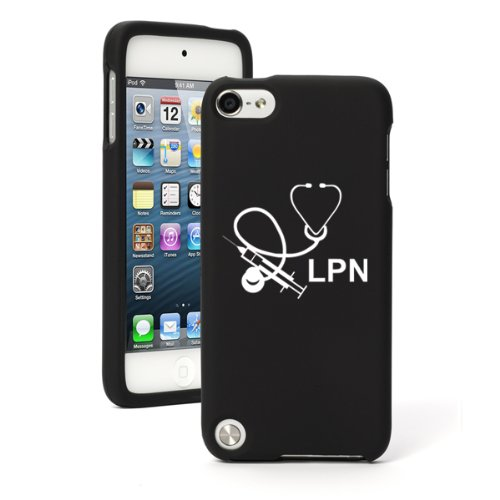Apple iPod Touch 5th / 6th Generation Black Rubber Hard Case