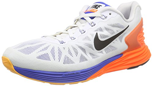 3ec0d0c6624e Nike Men s Lunarglide 6 White Blk Hypr Crmsn Hypr Cblt Running Shoe 10.5 Men  US - Buy Online in Oman.