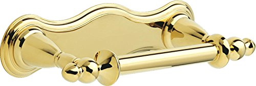 B Victorian Pivoting Toilet Paper Holder, Polished Brass ()
