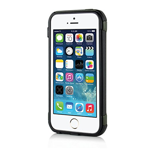 Apple iPhone SE 5 5S Handy Tasche Outdoor Case TPU Hybrid Camouflage Tarnmuster Hülle Grün