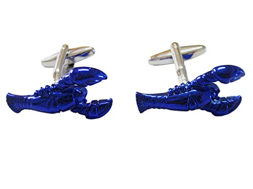 Blue Toned Lobster Cufflinks ()
