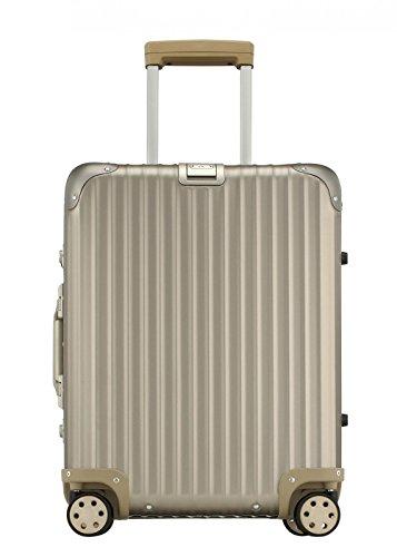Rimowa Topas Titanium Aluminium IATA Luggage 21″ inch Spinner Multiwheel 32.0L Pop Suitcase Light Bronze