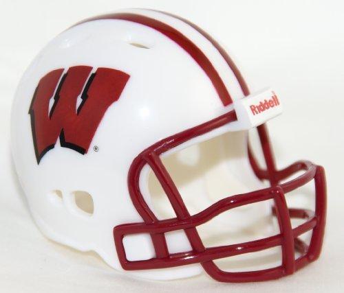 WISCONSIN BADGERS Riddell Revolution POCKET PRO Mini Football Helmet by -