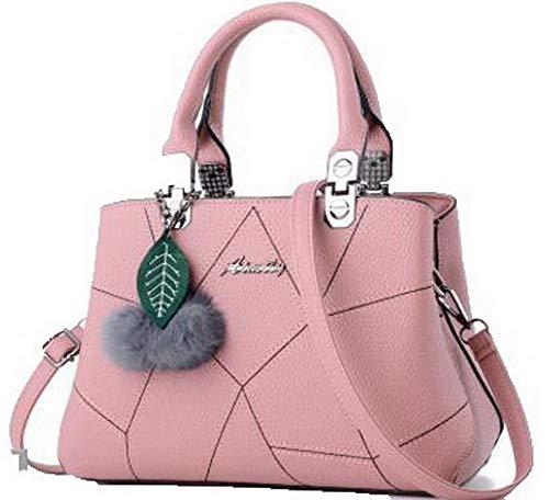 AllhqFashion Donna scuro Moda a Rosa Borse tracolla cerniere FBUIBC181791 Vestito Rosa Szzqwx