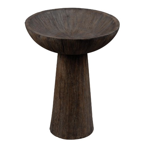 HunterKenroy Home Forest Bird Bath, Driftwood Finish