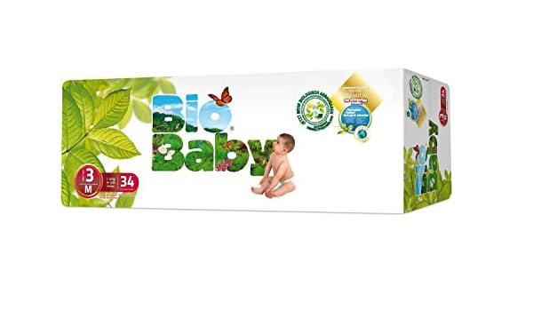 Baby Bio capas ecológicos desechables, biodegradables 34UDS -Pañales (7-10): Amazon.es: Bebé