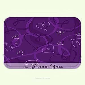 xiuhuo Indigo lavanda imagen con diseño de romántico de colores hechos a mano de corazones imagen berenjena morado y lila, 15.8wx23.7l