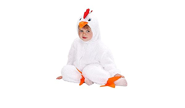 Pollo bebés y niños pequeños Disfraz de peluche (Blanco, Naranja ...