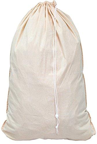 SimpleHouseware Extra Large 100% Cotton Laundry Bag, Beige (28