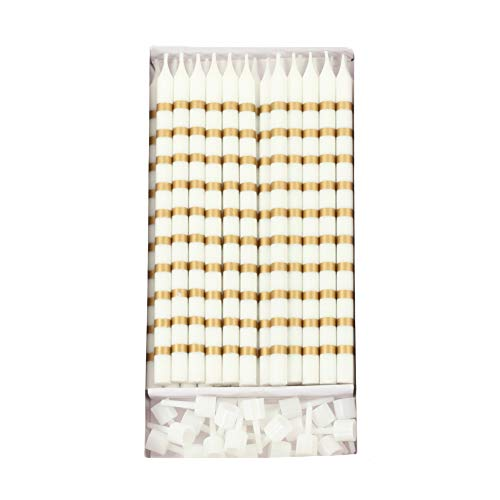Andaz Press Birthday Candles Gold Striped, Includes Candle H
