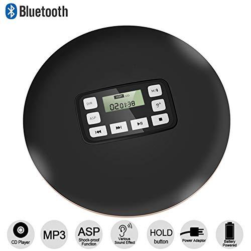 cchkfei tragbarer bluetooth cd player mit led anzeige. Black Bedroom Furniture Sets. Home Design Ideas