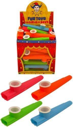 36 x Per bambini Plastica KAZOO Musica Maker Colori Assortiti 11cm