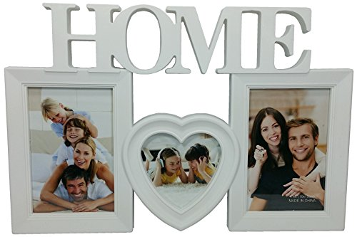 Valentine Day's Gift Collage Picture Frames White HOME Decor 3D of 3 Pic, Wall Hanging frame,White