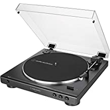 Audio-Technica at-LP60X-BK Fully Automatic Belt-Drive Stereo Turntable, Black, Hi-Fidelity, Plays 33 -1/3 and 45 RPM Vinyl Records, Dust Cover, Anti-Resonance, Die-Cast Aluminum Platter (Renewed)