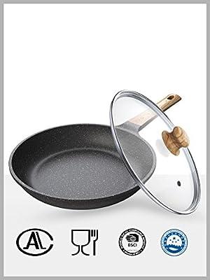 LLW-Frying Pans Sartenes para Sartenes Maifan Sartén Antiadherente Sartén Sartén para Asar Bistec Sartén Sartén para Cocinar Al Gas