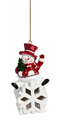 Team Sports America Ohio State Buckeyes Snowman LED Ornament (Ohio State Snowman)