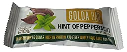 Golda Bar Whole Food Protein Bar, Hint of Peppermint, 1.4375 Pound
