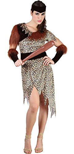 MA ONLINE Womens 10000 BC Cave People Outfit Ladies Prehistoric Role Play Fancy Dress Costume One Size Fits US 4-10