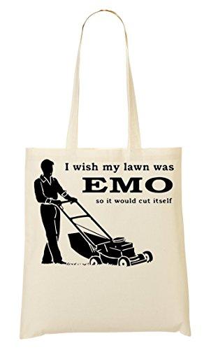 I Wish My Lawn Was Emo So It Cut Itself Bolso De Mano Bolsa De La Compra