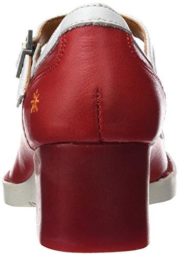 The Art Company 0099, Zapatos Mary Jane Mujer Rojo (Carmin)