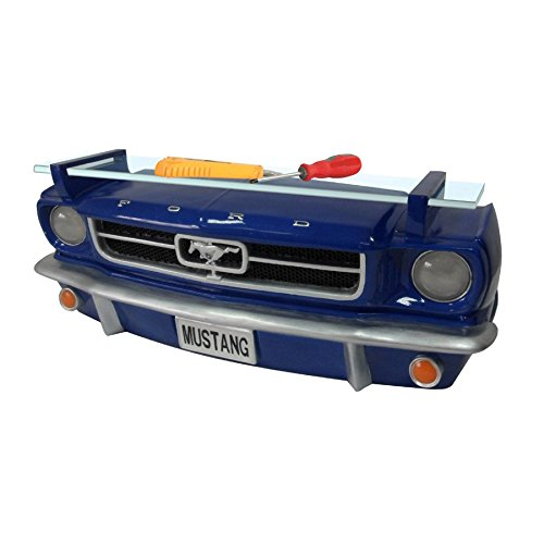 Ford 1964-1/2 Mustang Blue Front End Wall Shelf (Working Lights)