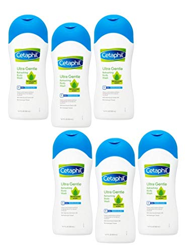 - Cetaphil Ultra Gentle Body Wash, Refreshing Scent, 16.9 Ounce (Pack of 6)