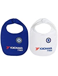 Chelsea FC Authentic Imported EPL Cute Baby Bibs 2 Pack Blue/White