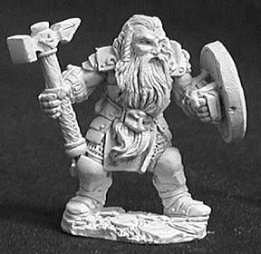 Reaper Bjorn, Male Dwarven Warrior 02607 by Miniatures -