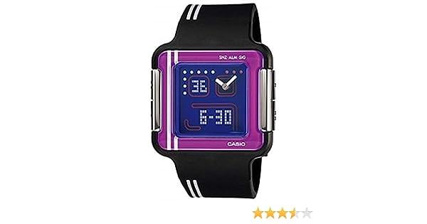 Casio LCF-21-1DR - Reloj analógico y digital de cuarzo para mujer con correa de resina, color negro: Casio: Amazon.es: Relojes