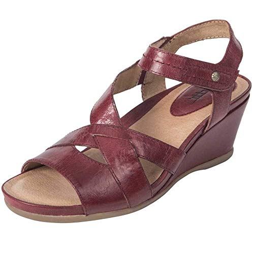 Earth Womens Thistle Leather Open Toe Casual Ankle Strap, Sandstone, Size 7.5