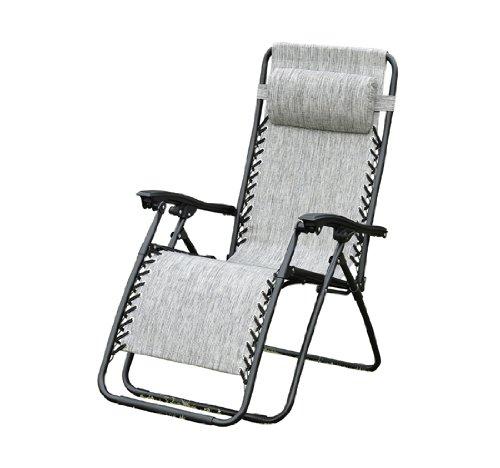 Outsunny Zero Gravity Recliner Lounge Patio Pool Chair - Granite Gray Color
