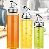 Leak Proof Oil Dispenser Bottle Glass No drip lid Olive Pot Vinegar Soy