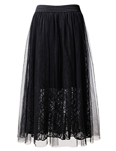 ajust Jupe NEARKIN Motifs Nknkwlsk61 Moderne black Femme EZOqwRO
