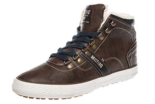 Mustang Shoes High Top Sneaker in Übergrößen Mittelbraun 4129-601-360 große Herrenschuhe
